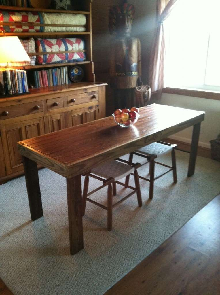 And This Coffee Table Is Made From An Old Door I Love How She Left The Hinges Attached