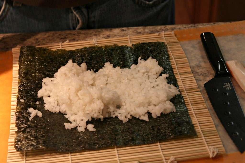 Homemade sushi roll