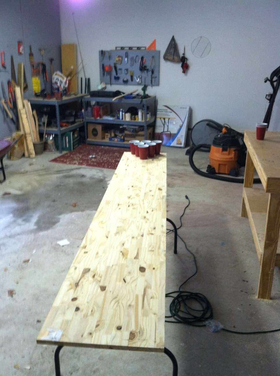 Homemade beer pong table -  Beer Pong Table1