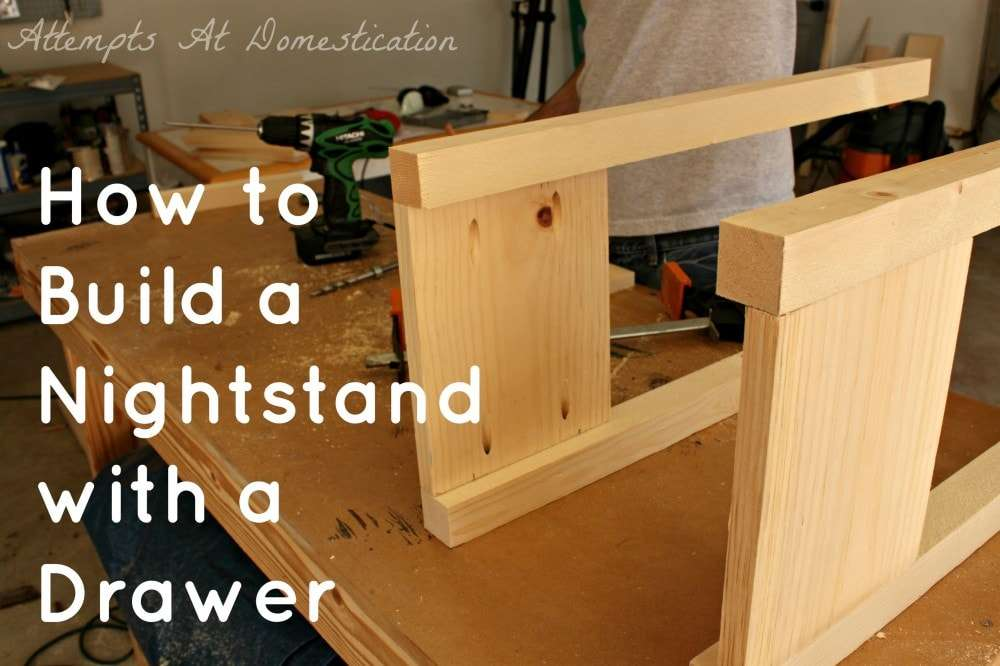 build wood nightstand