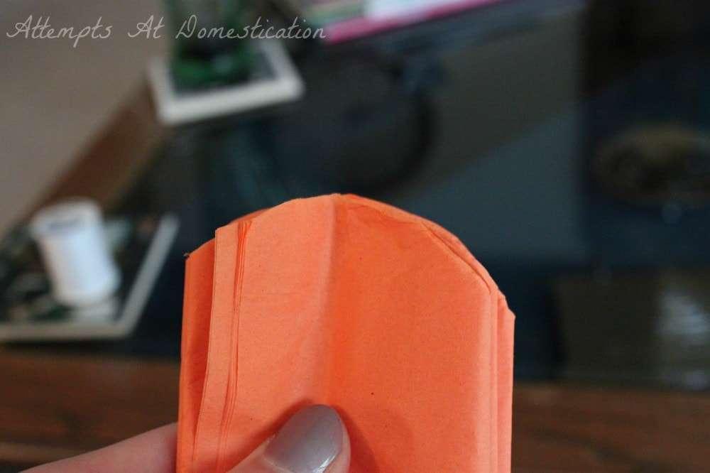 rounded tissue paper pompoms