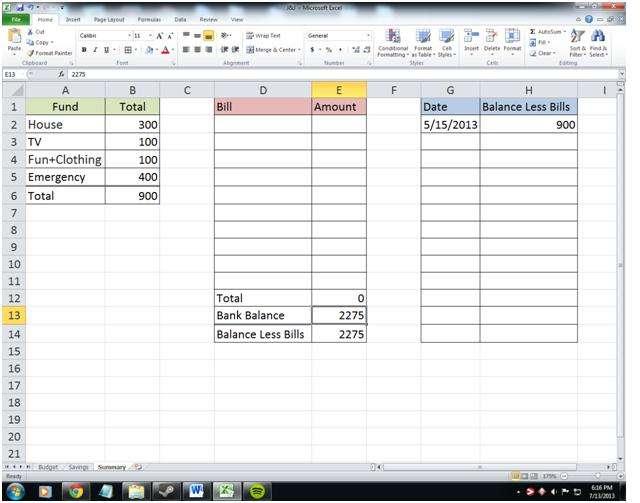 household bill tracker