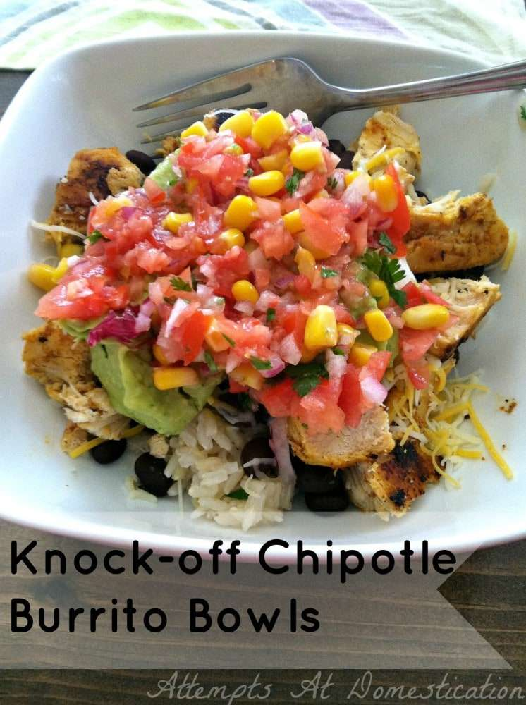 Knock-off Chipotle Burrito Bowl Recipe