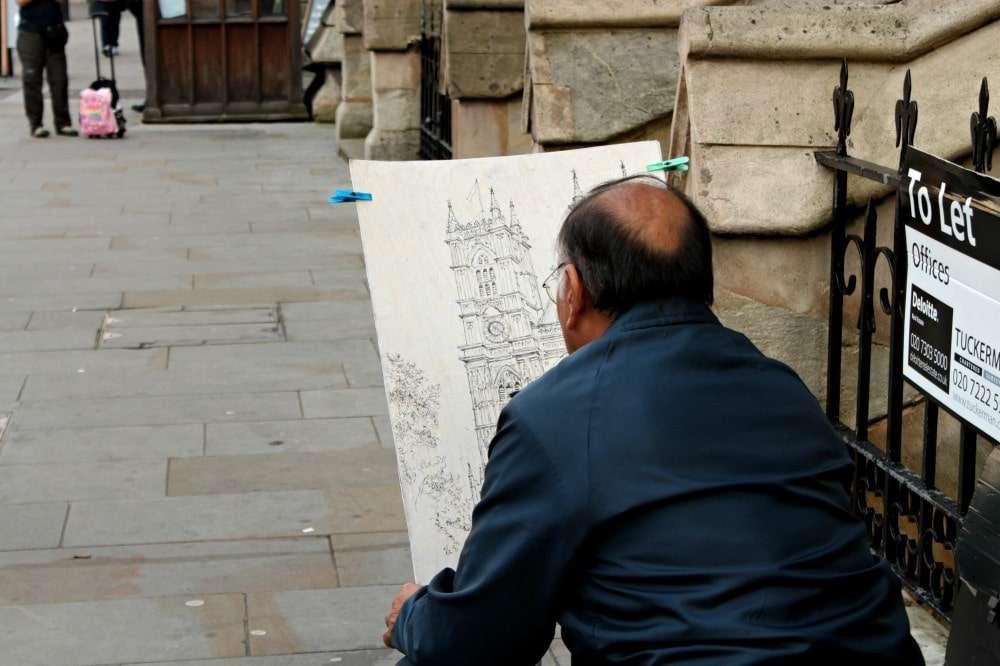 London - Westminster Abbey artist