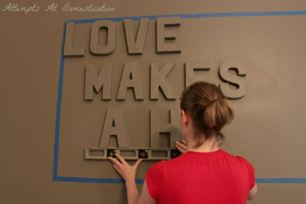 leveling 3D wall quote