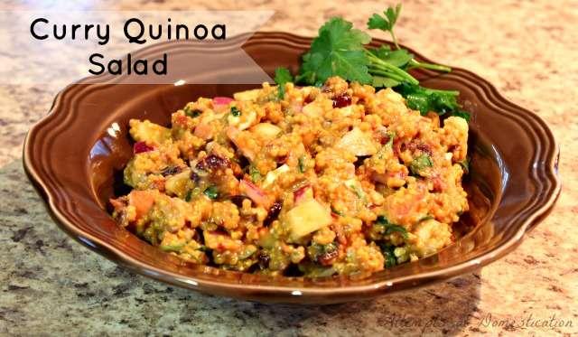 Curry Quinoa Salad - Pin