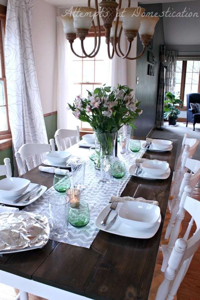 Easter spring dining room & Simple Easter Table Setting -