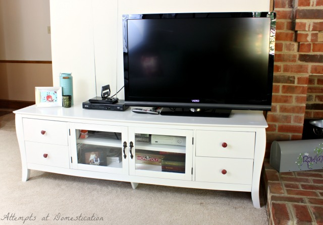 Tv Stand Makeover Finally