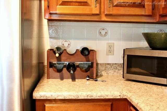 DIY Wine Rack - real life