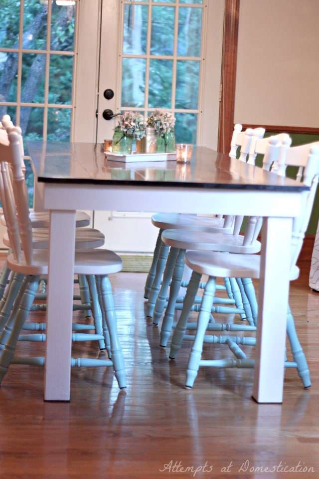 kitchen chairs refinished