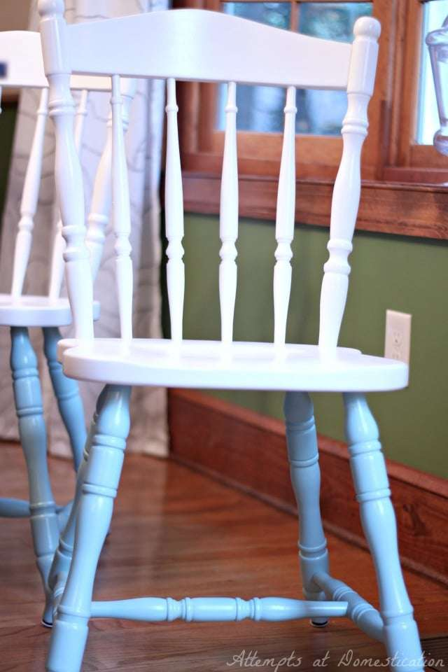 refinished kitchen chairs