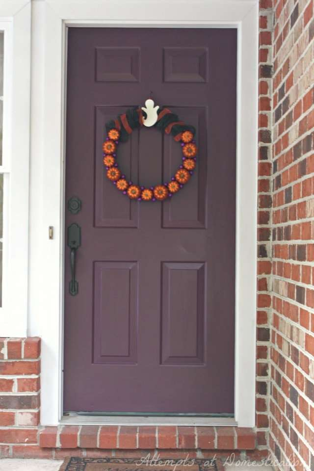 Plum front door