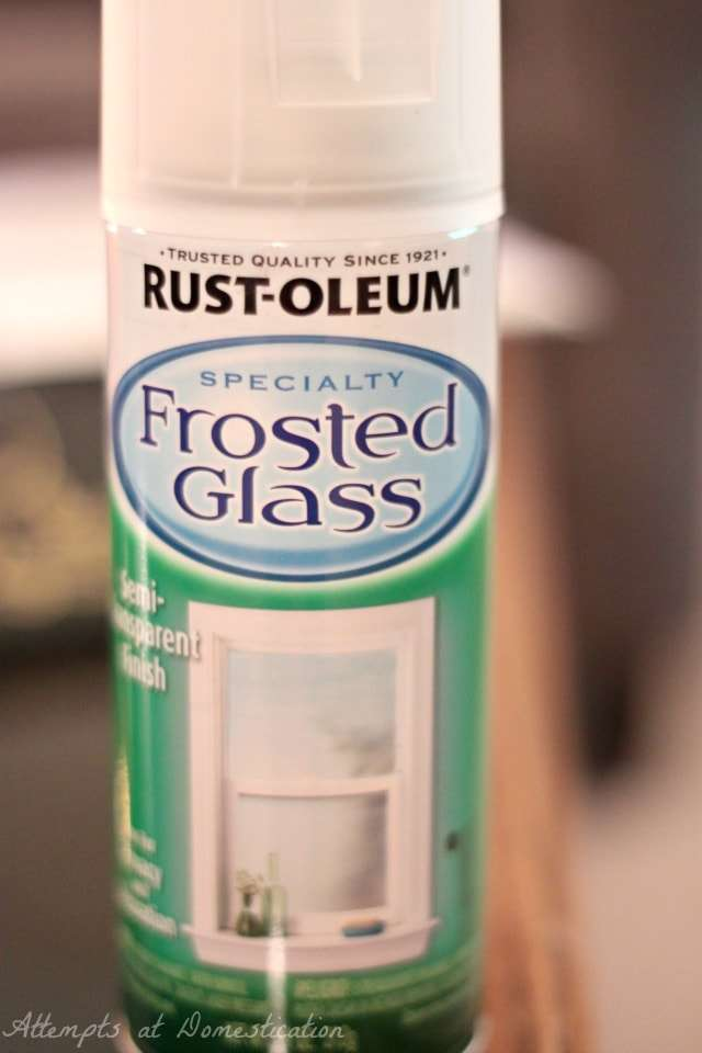 Rustoleum Frosted Glass spray paint