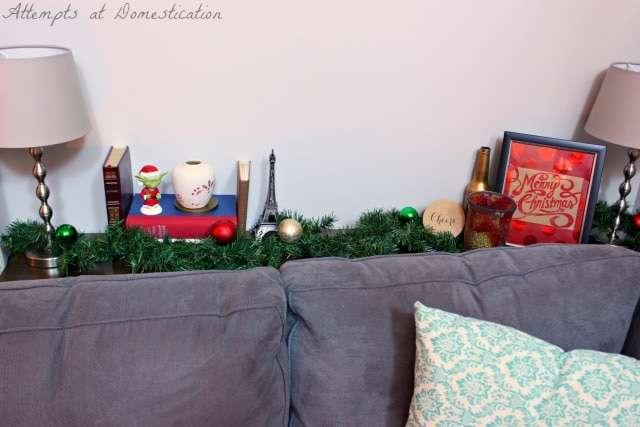 Sofa table Christmas 2014