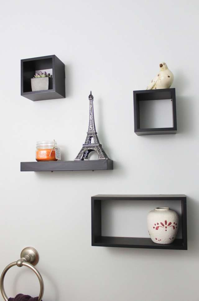 High Quality The Shelves Are Decorated With A Few Knick Knacks From Around Our House.  The Vase On The Bottom Shelf Was Made By My Paternal Grandmother And I Got  The ...