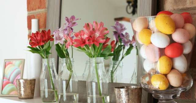 Spring Decor and Mantlescape