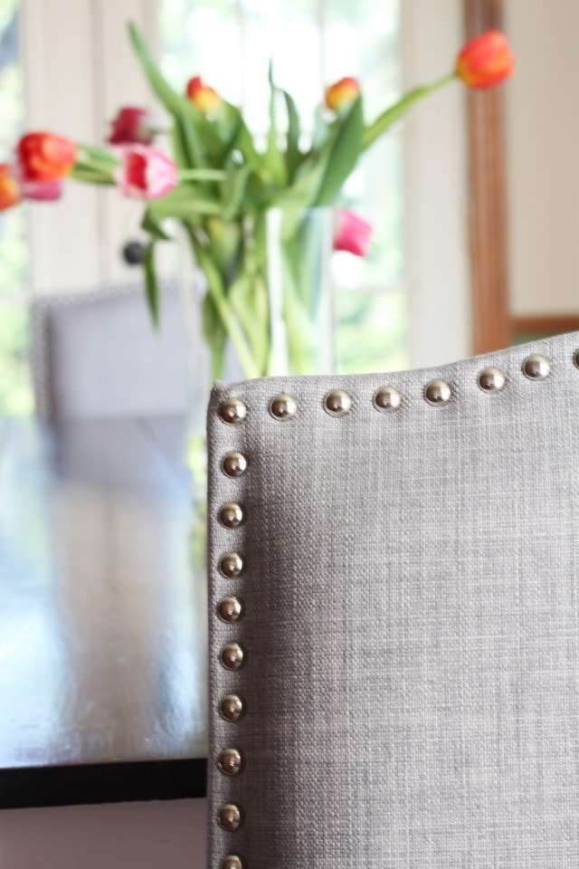 Nailhead dining chair