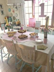 pink and gold birthday brunch