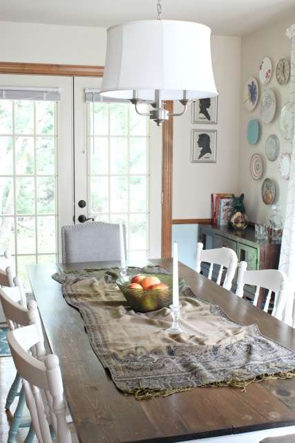 dining room fall decor
