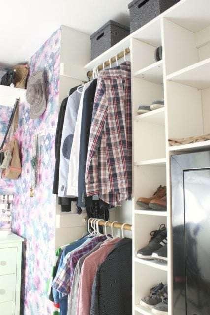 DIY closet organization system