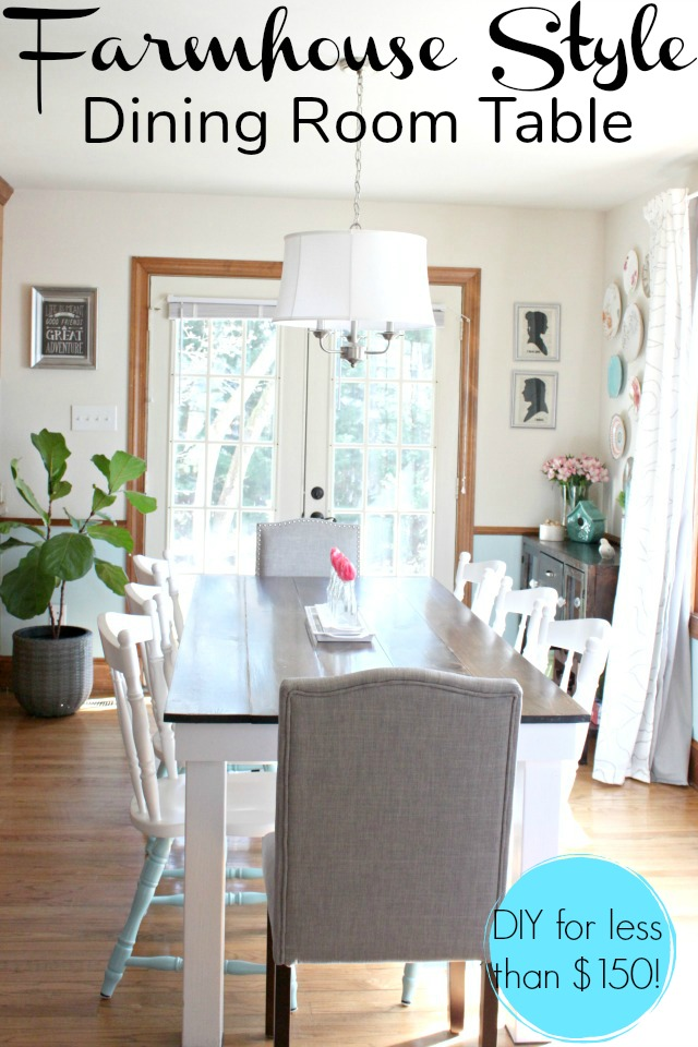 Diy Farmhouse Style Dining Room Table