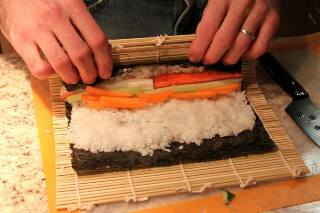 homemade sushi roll2