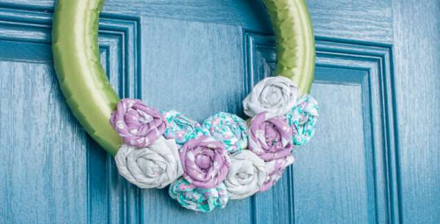 How to Make Fabric Flowers for a Spring Wreath