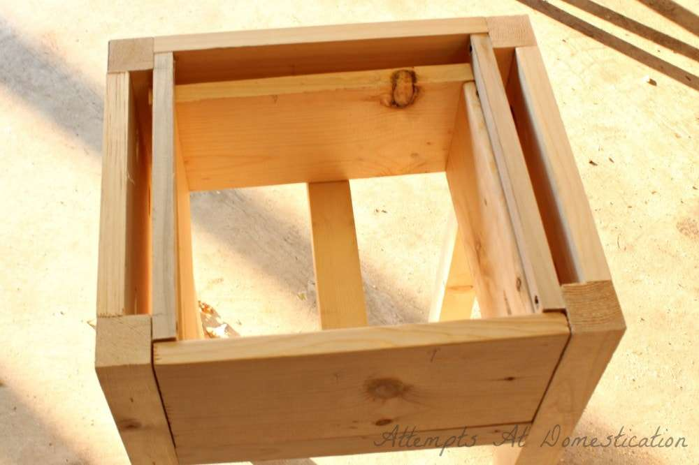 hand built nightstand with drawer How to Build a Bedside Table with Drawers