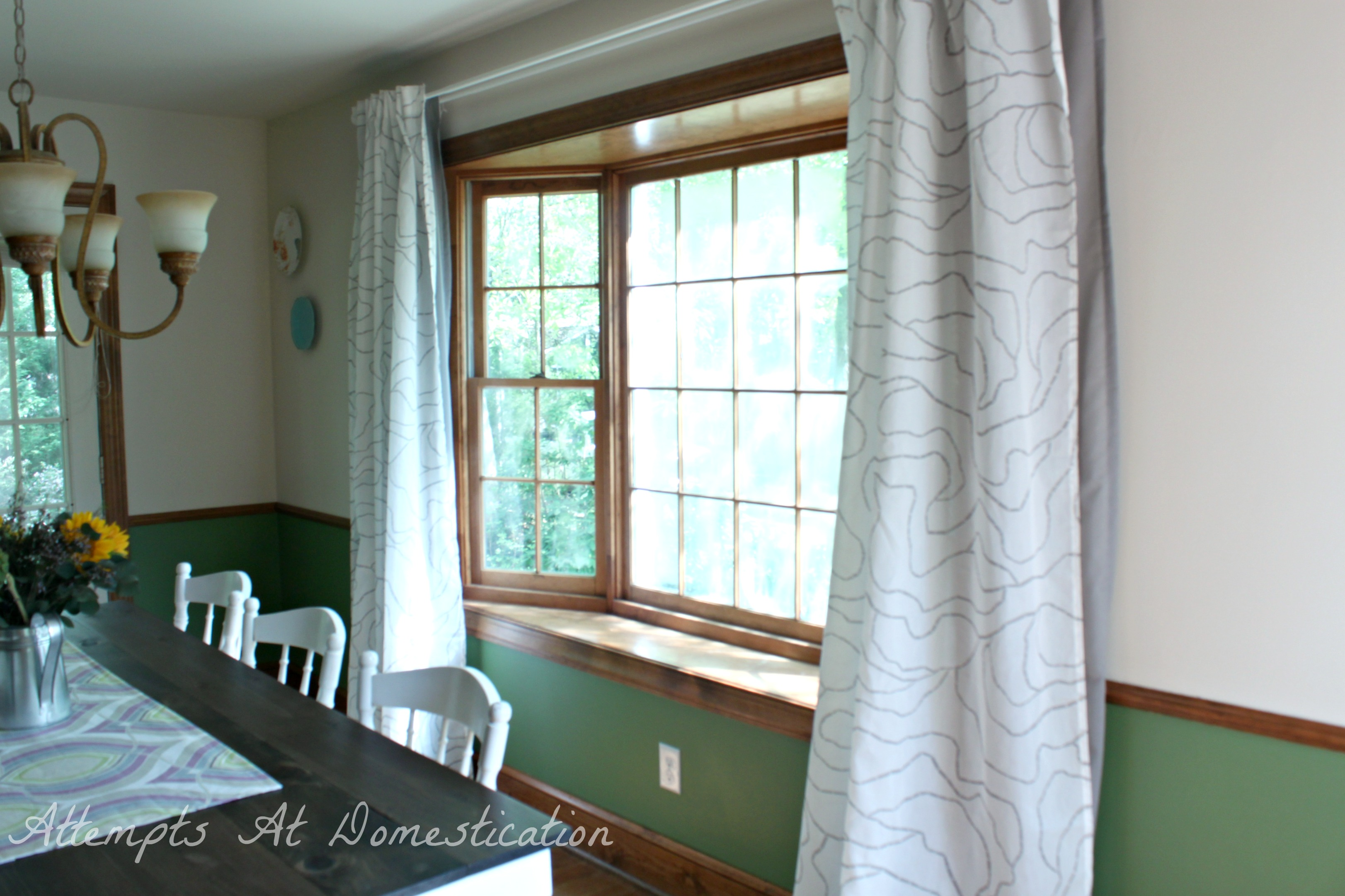 Dining room curtains attempts at domestication for Dining room drapes
