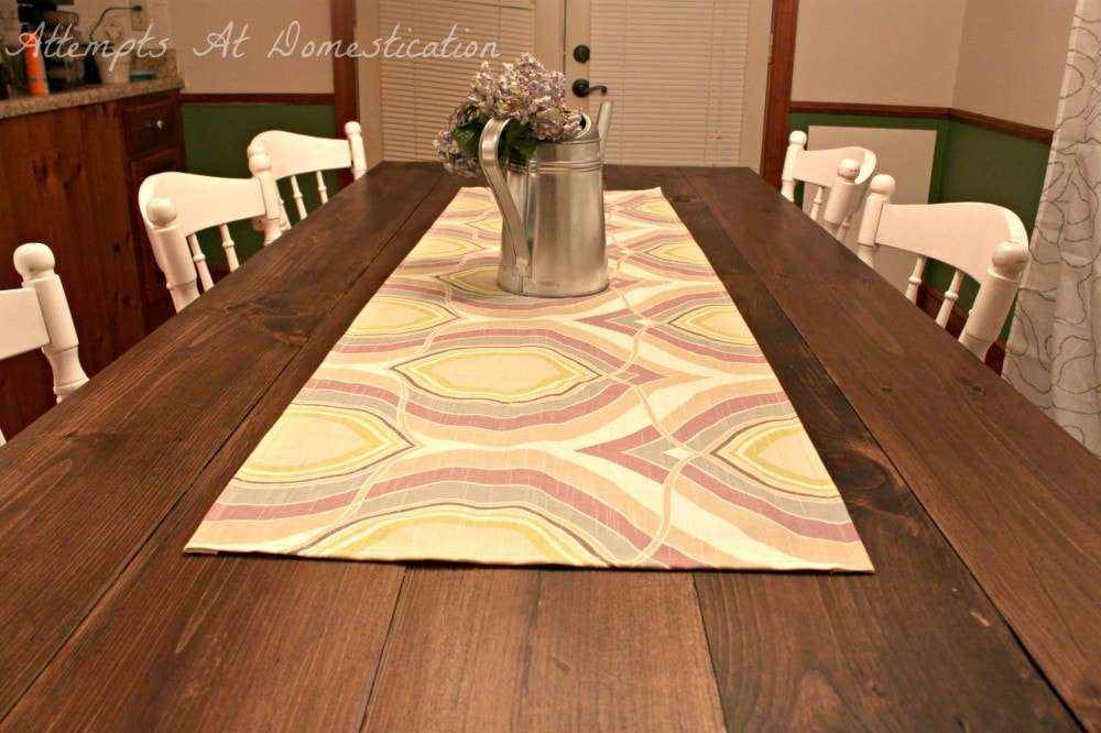 Dining room table half runner attempts at domestication Dining room table runner ideas