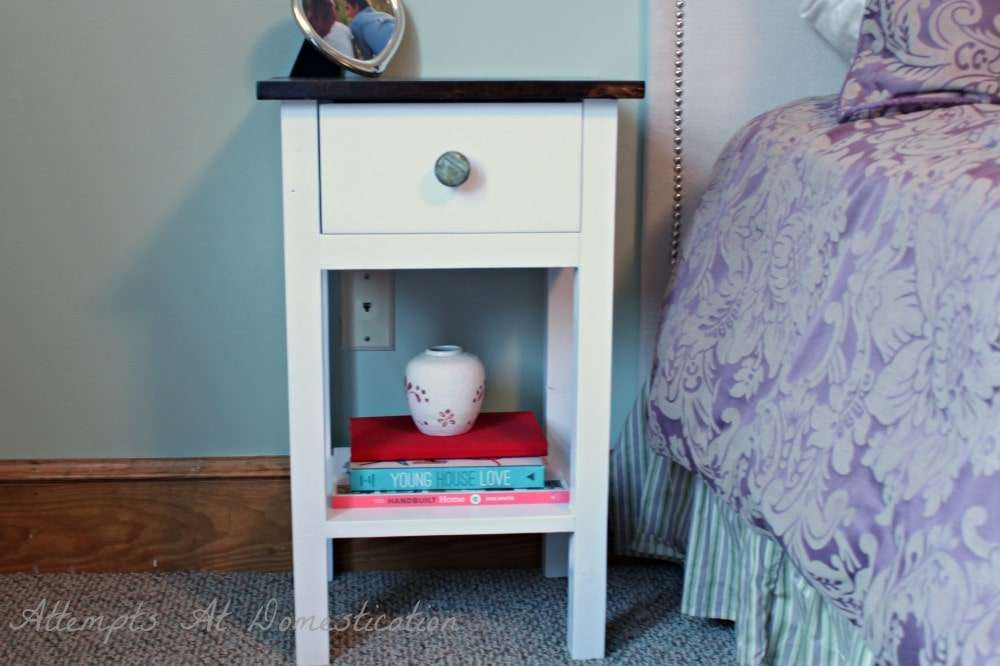 hand built nightstand with drawer How to Build a Nightstand with Drawers