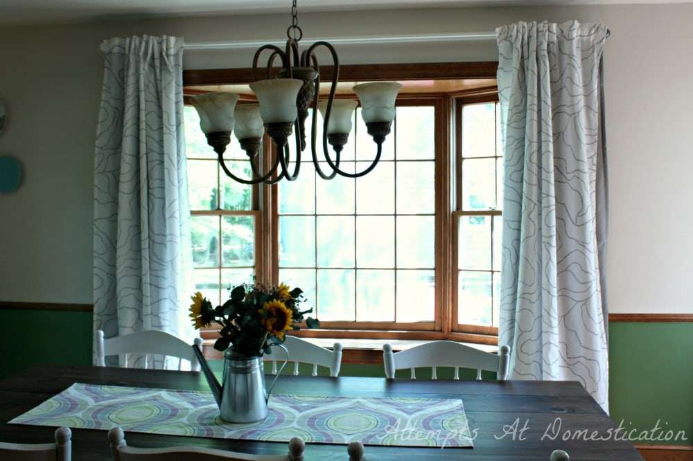 dining room bay window curtains new dining room curtains