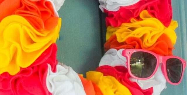 Colorful Felt Wreath DIY for Summer