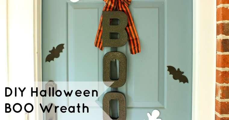 Boo Door Hanger – A Simple DIY Halloween Door Decoration