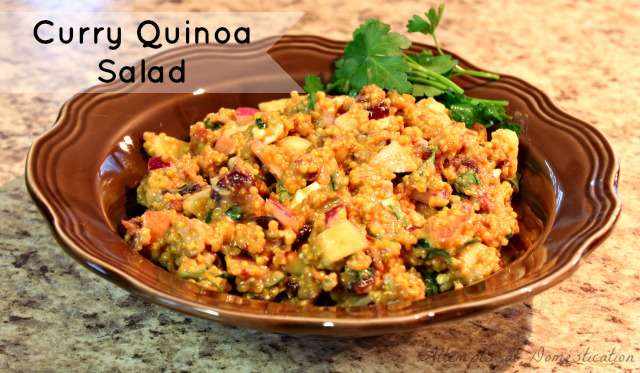 Curry Quinoa Salad - Pin