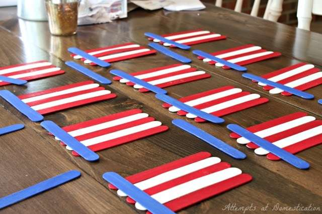 Popsicle stick flags