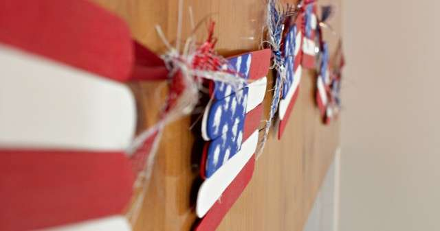 Popsicle Stick Flags Craft