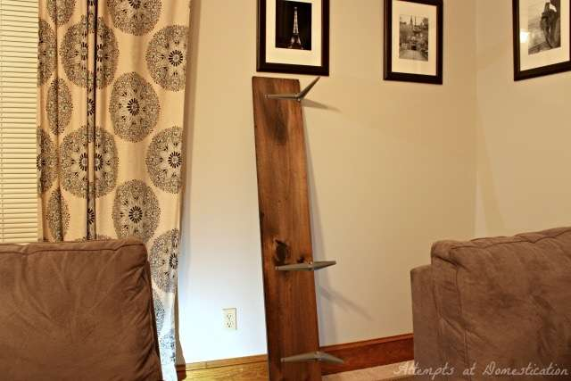 Shelf sofa table