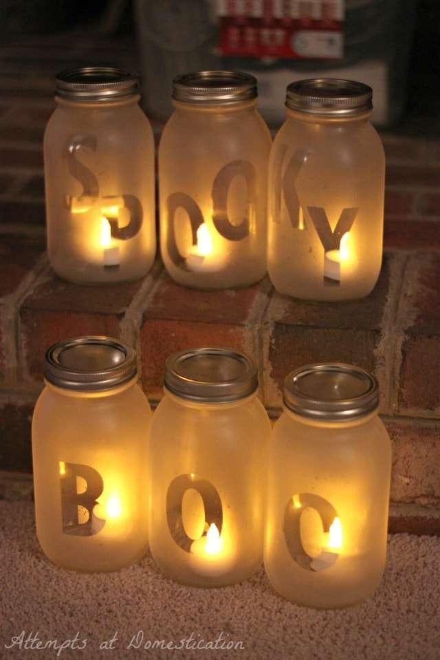 halloween jar lanterns
