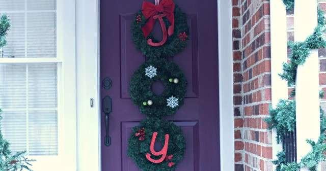 JOY for the Door – Joy Christmas Wreath