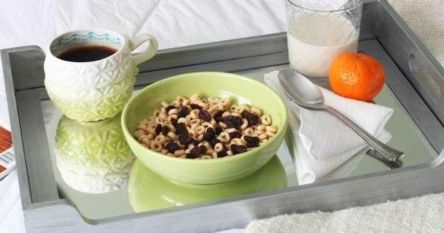 Modern Masters Metallic Paint Breakfast Tray Makeover