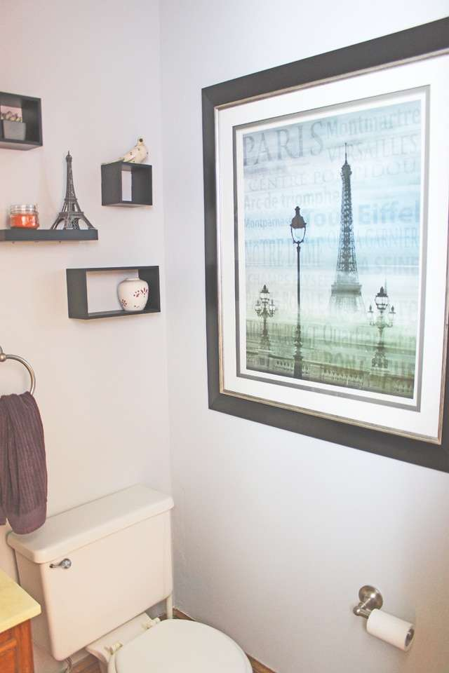 Paris themed powder room