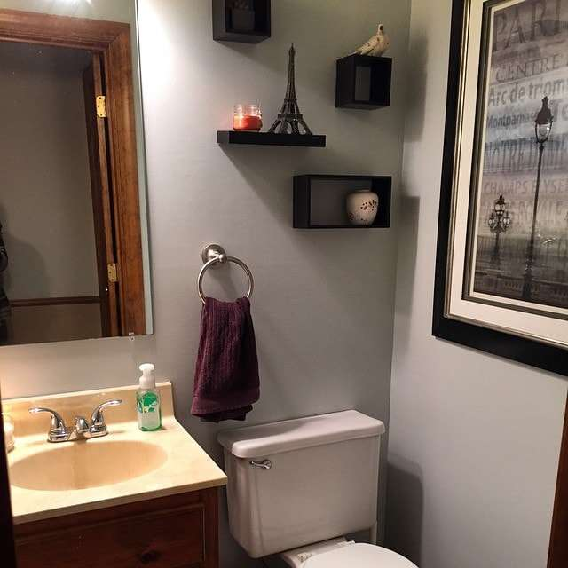 Powder room facelift