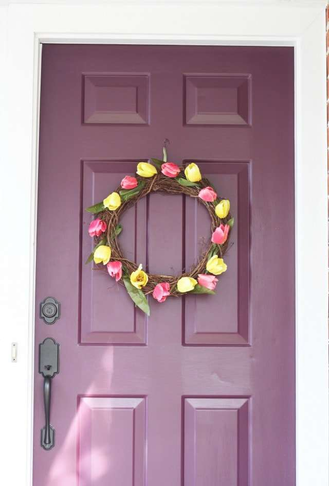 Tulip grapevine wreath