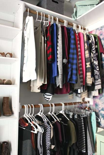 walk-in closet her side