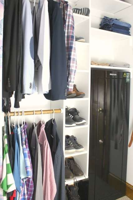 walk-in closet his side