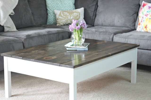 Simple Diy Farmhouse Style Coffee Table
