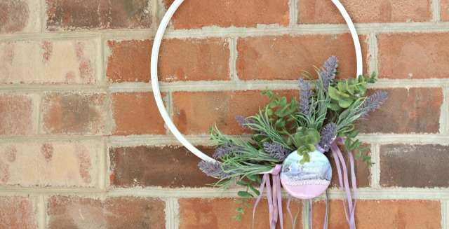 A Little Crafting for the Nursery – Making a DIY Floral Hoop Wreath