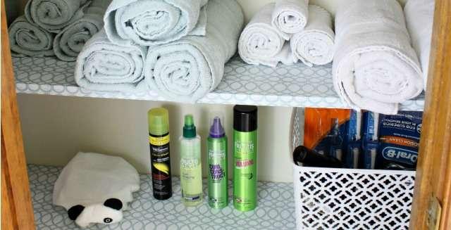 Using Bins to Create a More Organized Bathroom Closet