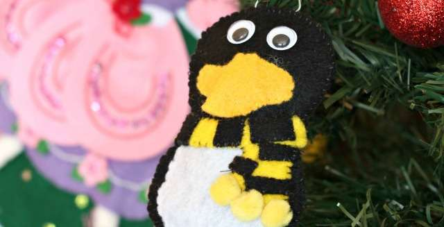 Penguin Felt Ornaments Inspired by Santa Claus is Comin' To Town